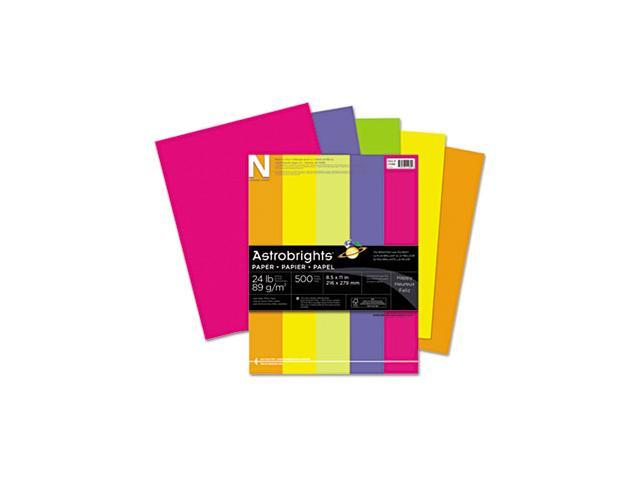 Astrobrights Colored Paper, 24lb, 8-1/2 x 11, Assorted, 500 Sheets/Ream