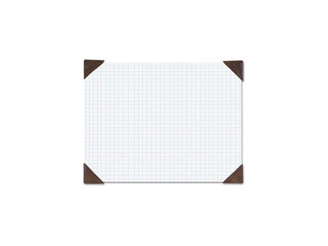 Refillable Compact Doodle Pad, Ruled Pad, 18 1/2 x 13, White/Brown