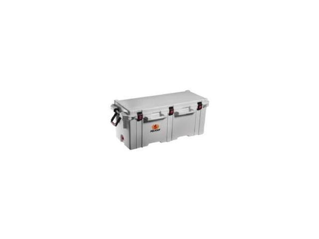 Pelican Elite Cooler 250 Quart - 62.50 gal - 1 Week Maximum Ice Storage - White - Stainless Steel, Polyethylene, Polypropylene, Thermoplastic ...