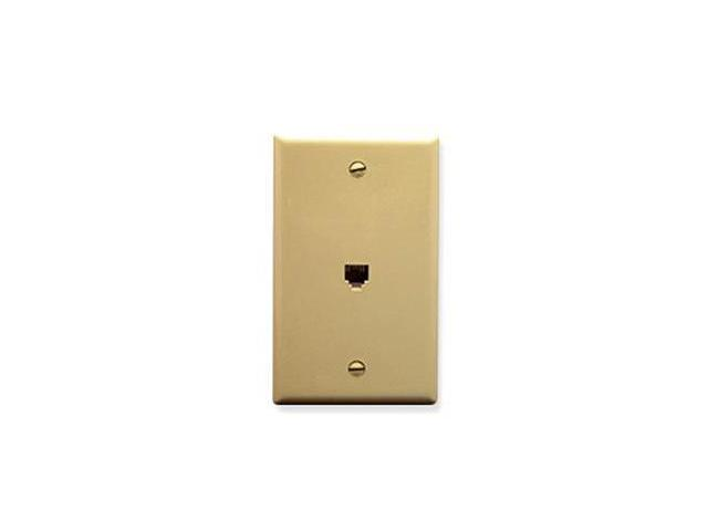 WALL PLATE, VOICE 6P6C, IVORY