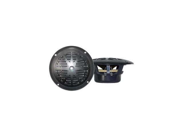 Pair Pyle Plmr41b Black 4 100w Marine 2 Way Speakers 100 Watt