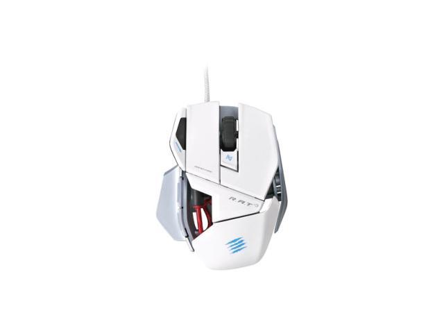 Mad Catz R.A.T. 3 Gaming Mouse for PC and Mac - White