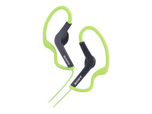 Sony Stereo Headphones; Green