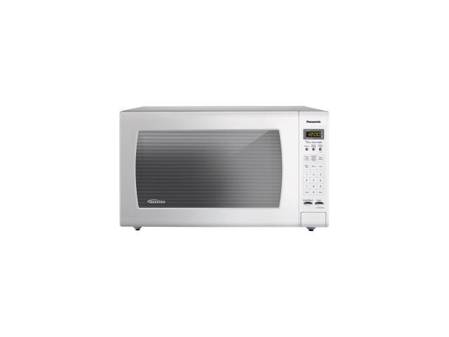 """White 1250-Watt Stainless Steel Genius Counter Top Microwave Oven with Inverter Technologyâ""""¢"""
