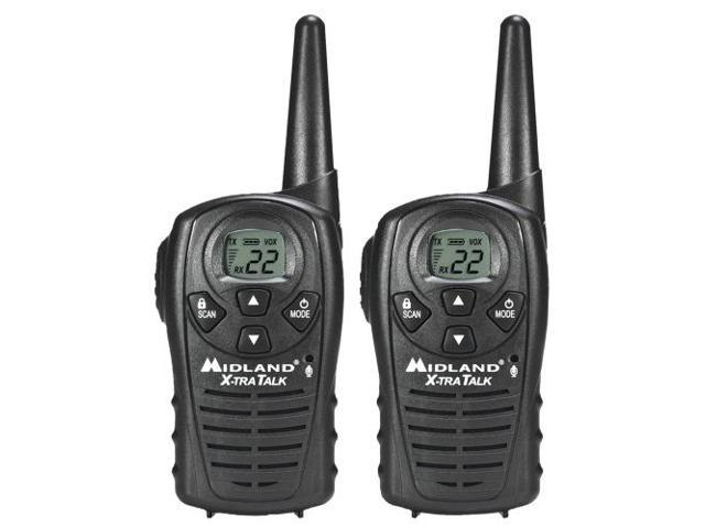 Midland LXT118 22 Channel GMRS Radios - Black (LXT118)