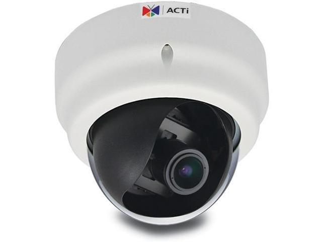 ACTI D61A 1.3MP IP Indoor Dome Camera with SLLS, Audio Support and 2.8 to 12mm Varifocal Lens