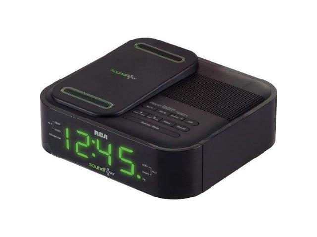AUDIOVOX RC250BK RCA Clock Radio - Apple Dock Interface