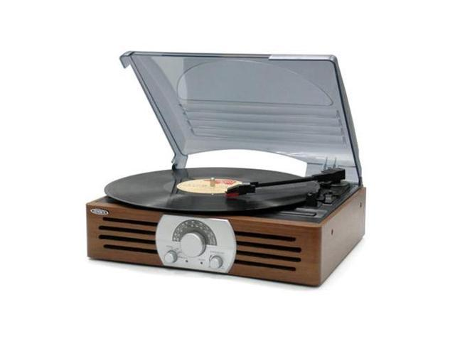 SPECTRA MERCHANDISING JEN-JTA-222 3-Speed Stereo Turntable with AM/FM Ster