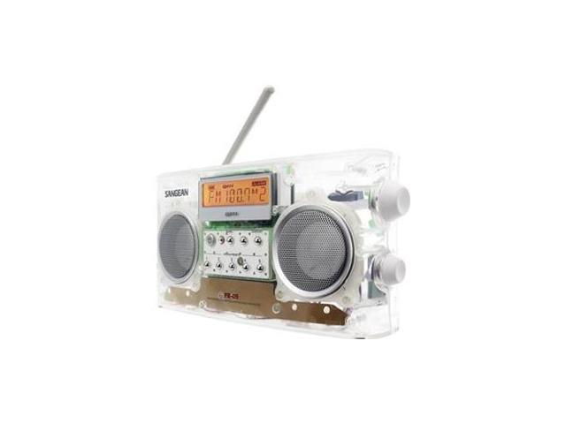 SANGEAN PR-D5CL Clear AM/FM-RBDS Portable Digital Tuning Radio with 10 Memory Pre-sets, Auto Seek, Backlit LCD Display