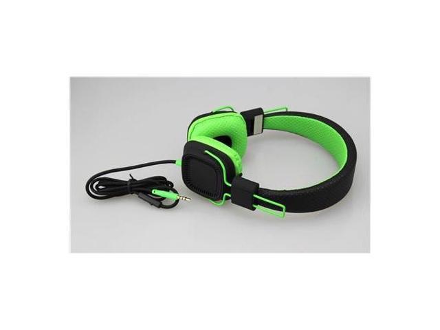 SOUTHERN TELECOM SO-SHP51BKGR Deep Bass Headphones BLACK GREEN - 3.5mm jack