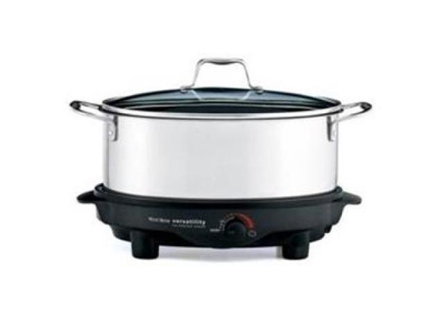 FOCUS ELECTRICS 84866 6-quart Versatility Slow Cooker in Stainless Steel