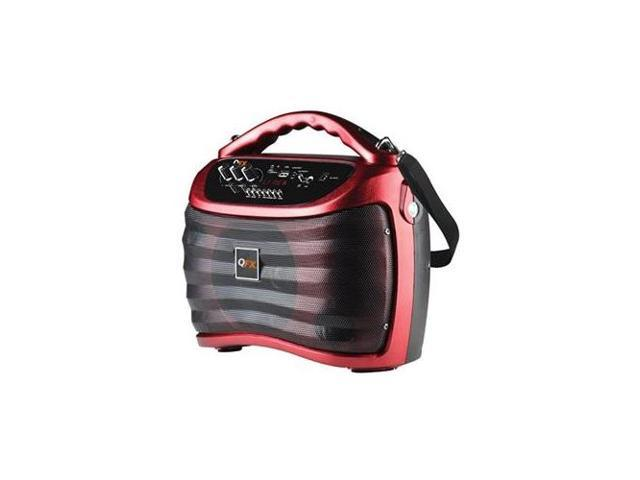 QFX PBX-505100BT-Red BATTERY POWERED BLUETOOTH PA SPEAKER WITH USB/MICRO-SD - Red