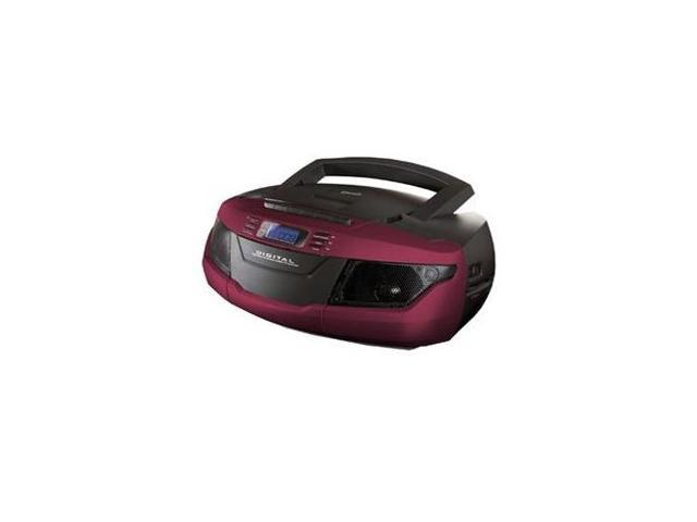 SUPERSONIC SC-184UBRED MP3CD Cassette Recorder Red