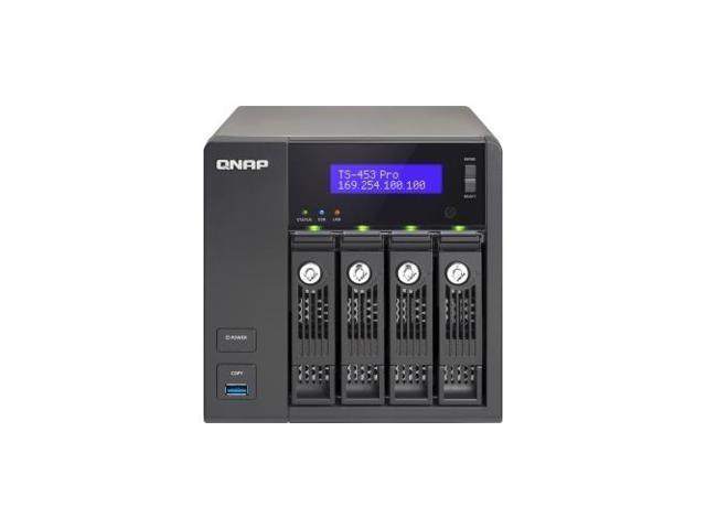 QNAP TS-453-PRO-US Turbo NAS TS-453 Pro NAS Server /Intel Celeron 2 GHz - 4 x Total Bays - 2 GB RAM - Serial ATA/600 - ...