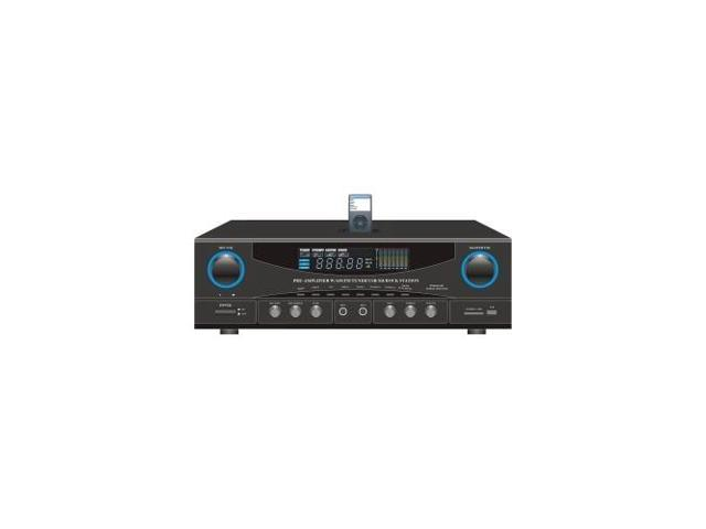 PYLE PT4601AIU 500WATT STEREO RECEIVER W/AM-FM TUNER/USB/SD/IPOD DOCK STATION