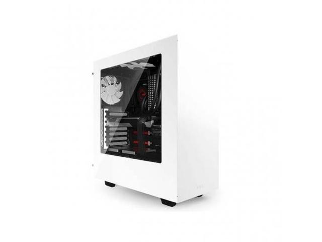 NZXT CA-S340W-W1 S340 No Power Supply ATX Mid Tower Case (White)