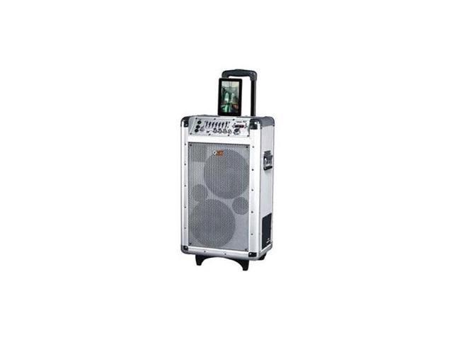 QFX PBX-3081BT Battery Powered PA Speaker Slv
