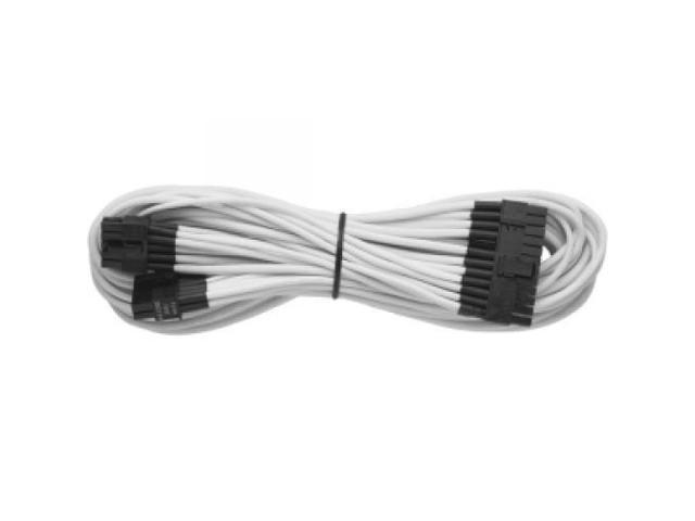 CORSAIR CP-8920058 Individually Sleeved 24pin ATX Cable (Generation 2), WHITE