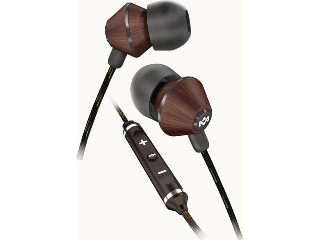 House of Marley People Get Ready Midnight 3Button Mic iPhone Earbuds EM-JE013-MI