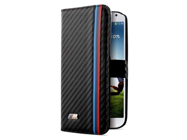 CG Mobile BMW Galaxy S4 IV Motorsport Carbon Fiber Effect Flap Case BMFLHS4MC