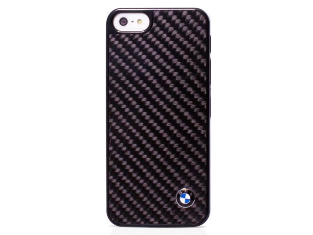 CG Mobile BMW iPhone 5C Black Carbon Fiber Effect Hard Case Genuine BMHCPMMBC