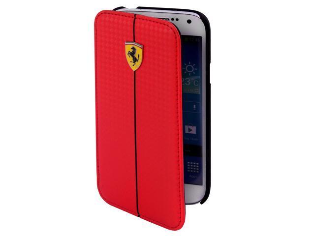 CG Mobile Ferrari Carbon Fiber Effect Book Flap Case iPhone 5 / 5S FEFOCFLBKP5RE