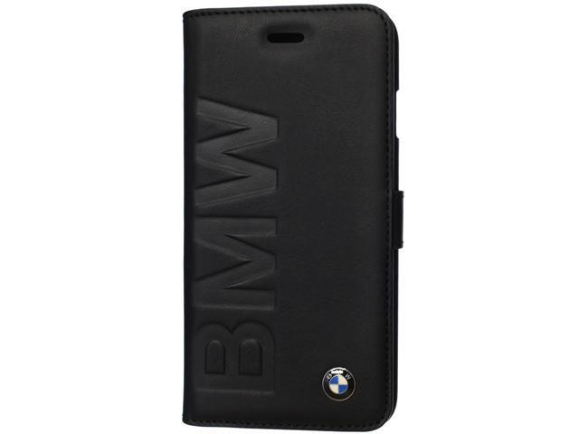 CG Mobile BMW iPhone 6+ 6 Plus Leather Debossed Book Type Case Blue BMFLBKP6LLON