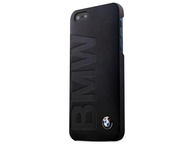 CG Mobile BMW iPhone 5 / 5S Black Leather Embossed BMW Logo Case BMHCP5LOB