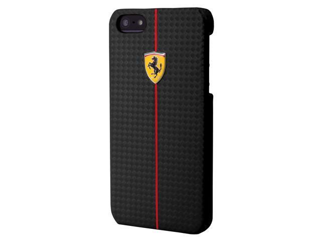 CG Mobile Ferrari Carbon Fiber Effect Hard Case iPhone 5 / 5S FEFOCHCP5BL