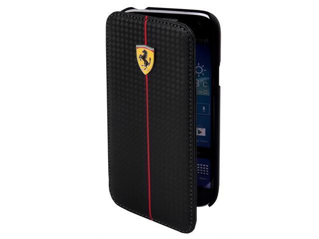 CG Mobile Ferrari Carbon Fiber Effect Book Flap Case iPhone 5 / 5S FEFOCFLBKP5BL