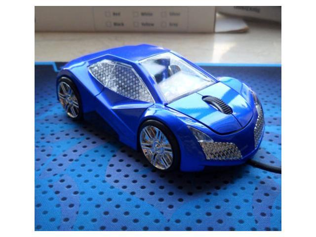 NEW Cool Model 3D Lincoln Car Shape Usb Optical Mouse for PC Laptop BLUE