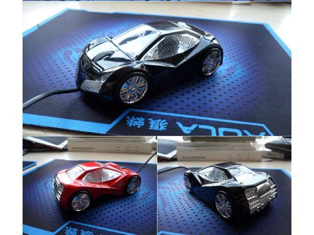 NEW Cool Model 3D Lincoln Car Shape Usb Optical Mouse for PC Laptop Black