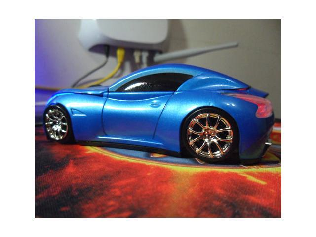 NEW Cool Model 3D Infiniti Car Shape Usb Optical Mouse for Laptop 4 Colors blue