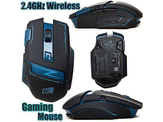 Qant Electronics Actme V5 2.4GHz 8D 2400DPI Battletech 7 Buttons Wireless Gaming Mouse with Silence Buttons and High-Precision No Light Sensor