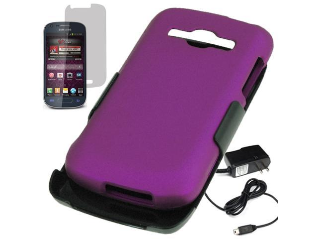 Hard Shield Holster Combo Case Samsung Galaxy Ring Prevail 2 M840 Travel Charger