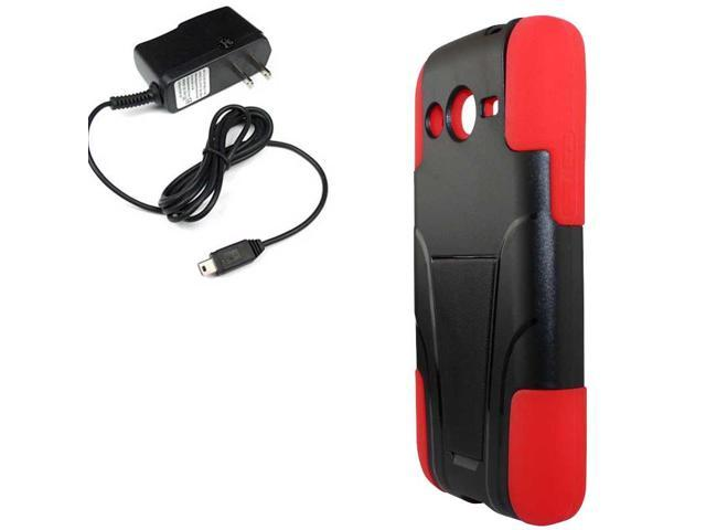 Hybrid Protector Hard Stand TMobile Samsung Galaxy Avant G386 Travel Charger
