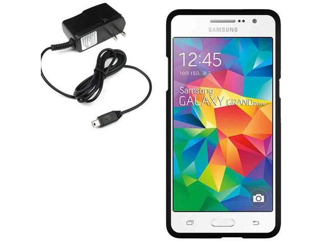 Protector Hard Shell Cricket Samsung Galaxy Grand Prime G530H Travel Charger
