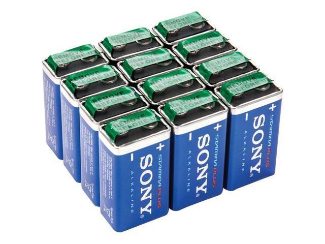 SONY S9V-12BULK STAMINA(R) PLUS Alkaline Bulk Batteries (9V; 12 pk)