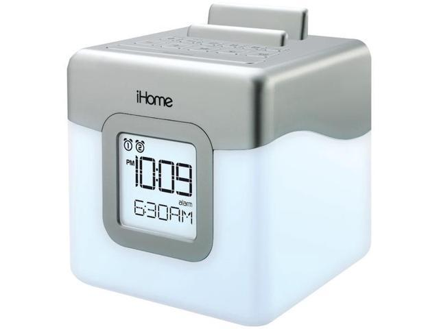 IHOME IHM28WC Color-Changing LED Dual Alarm Clock Radio Speaker System with USB Charging