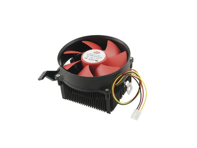 Red Black 3 Pins Connector CPU Cooling Fan Heatsink for Desktop