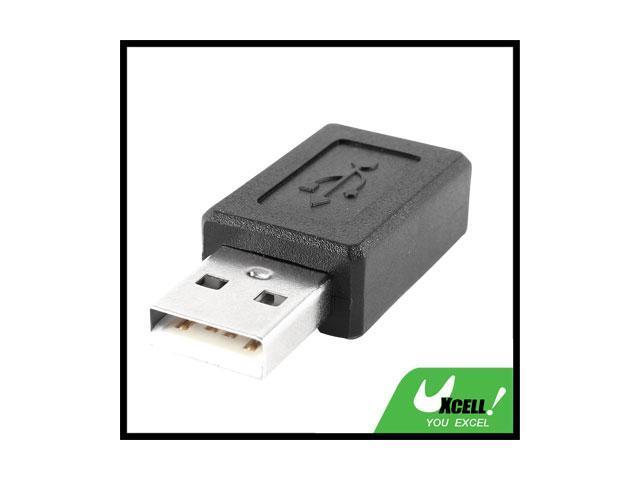 USB 2.0 A Male Plug to Micro 5Pin Female Jack M/F Adapter Converter Black
