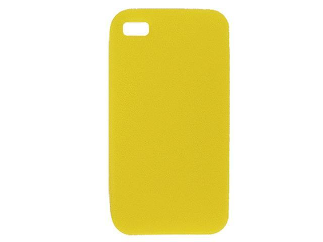 Yellow Texturing Silicone Skin Cover for Apple iPhone 4