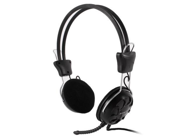Adjustable Headband Rotatable Microphone Laptop Desktop 3.5mm Headphone Headset