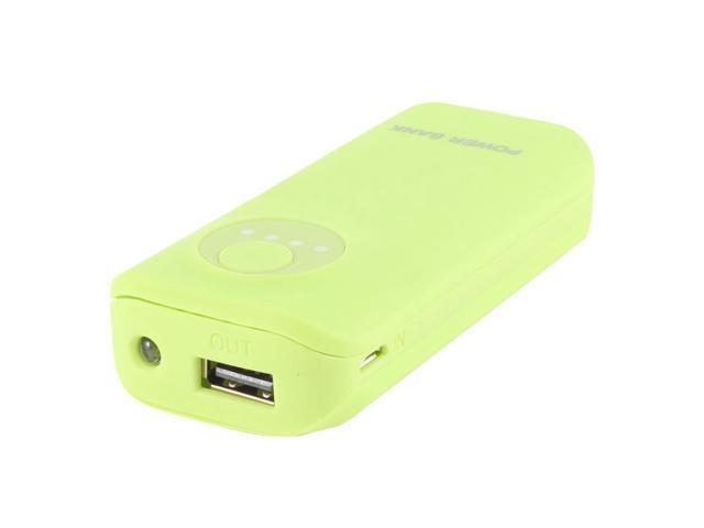 3300mAh External Power Bank Backup USB Battery Charger Green