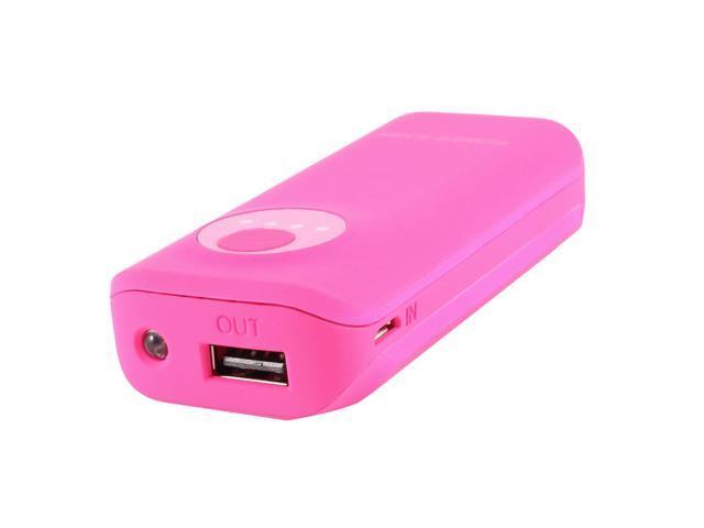 3300mAh External Power Bank Backup USB Battery Charger Fuchsia