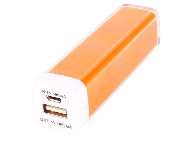 Orange Smart Phone External Power Bank USB Backup Battery Charger 2600mAh