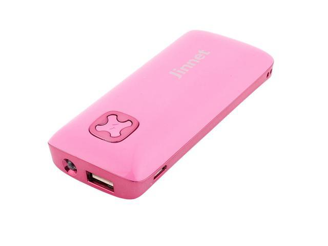 5200mAh External Power Bank USB Backup Battery Charger Pink for Cell Phone