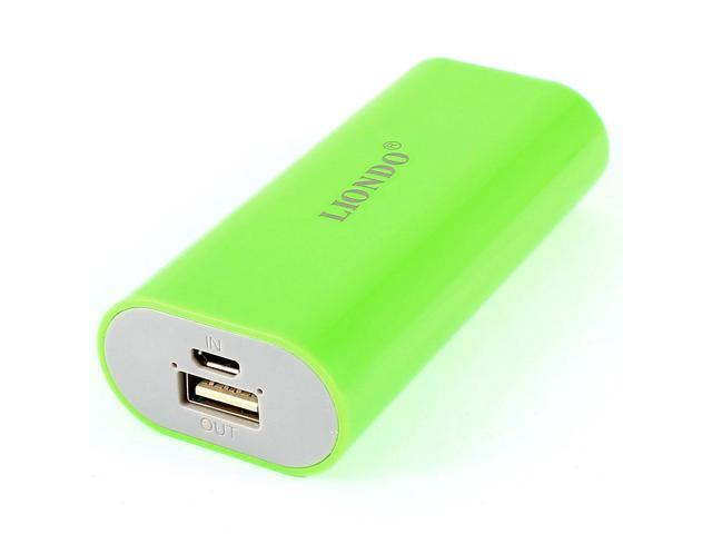 4400mAh Micro TypeB USB Power Bank External Backup Battery Charger Green for Cell Phone
