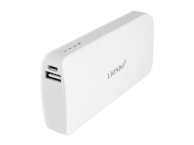 10000mAh USB Power Bank External Backup Battery Charger White for Smart Phone
