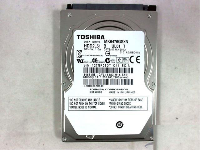 WD6400BPVT 640gb 5400RPM LAPTOP HARD DRIVE MK6476GSXN